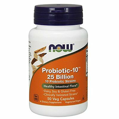 Now Foods Probiotic-10, 25 Billion, 10 Probiotic Strains, 50 Veg Capsules