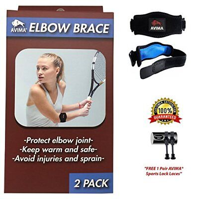 AVIMA BEST Tennis Elbow Brace Strap Tendonitis Golfers Relief Support - 3