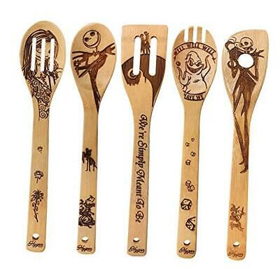 Halloween Gift Idea Utensil Burned Wooden Spoons Set House Warming Wedding Prese