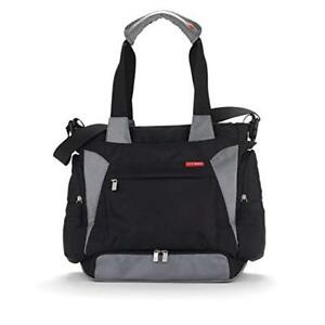 "Skip Hop Diaper Bag, ""Bento"" style, Black and Grey"