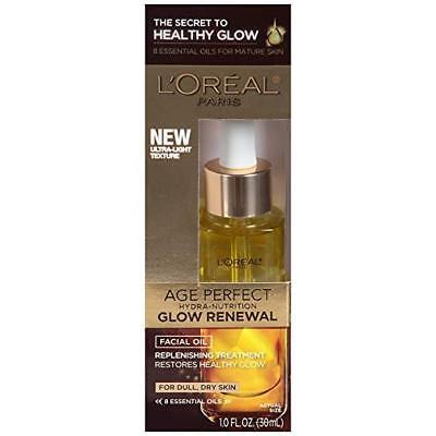 L'Oreal Paris Age Perfect Hydra-Nutrition Glow Renewal Facial Oil, 1 fl oz