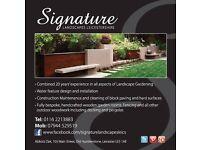 Signature Landscapes. Patio,Decking,Summer Houses,Sheds,Decking,Drives,Gardens,Slabs.Fencing,Ponds