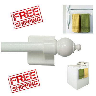 Multi Use Adjustable Petite Cafe Magnetic Rod Window Curtain Rods Supplies metal