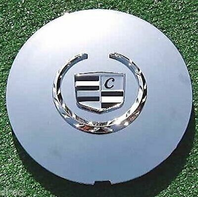 4 NEW Chrome CENTER CAPS fit OEM Cadillac Deville Eldorado SLS DTS DHS Wheels