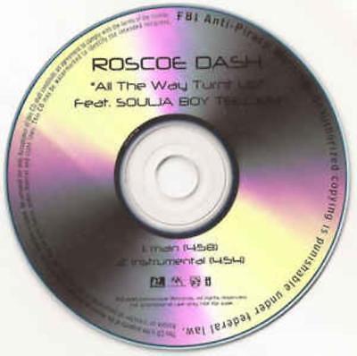 Roscoe Dash All The Way Turnt Up PROMO MUSIC AUDIO CD Soulja Boy Main
