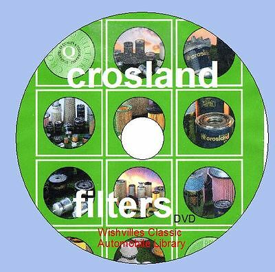 Crossland Filters, car, commercial, bus, construction circa 1960 ~ 1988 DVD ROM