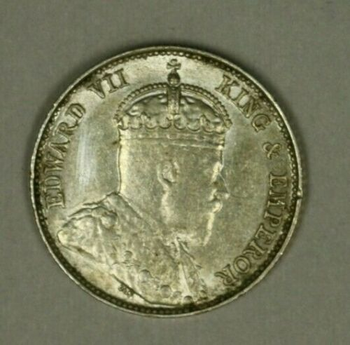Straits Settlements Silver 10 Cents 1902  XF  A903