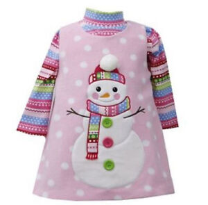 NWT Bonnie Jean Sz 24 mos Snowman Christmas Dress FREE SHIPPING
