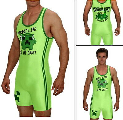 (Singlet, WRESTLING IS MY CRAFT, green w/CUSTOM TEXT included on back)