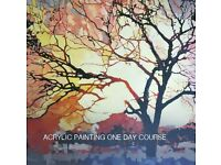 Painting in acrylic one day course at Lordship Hub Co-op on Sunday 22nd January