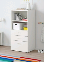 Ikea bookcase with drawers