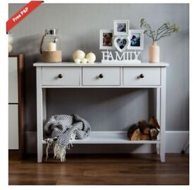 REDUCED PRICE - NEW- IN BOX- FLATPACK 2X BEDSIDE TABLE AND 1X DRESSING/CONSOLE TABLE