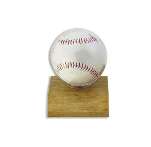 Ultra Pro Baseball Holder, Light Wood Base Baseball Display Case On Base/stand