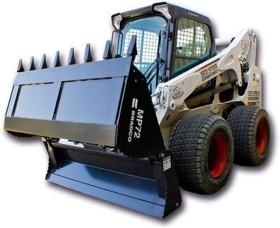 Skid Steer 4 - In - 1 Bucket - Bradco Hd 4-in-1 Bucket 84 - Tooth Edge