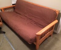 Solid Wood Frame Futon for Sale