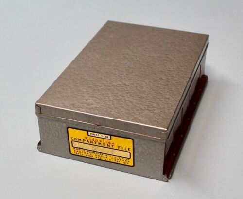 Vintage Original KODASLIDE 35mm SLIDE STORAGE BOX by Kodak Metal