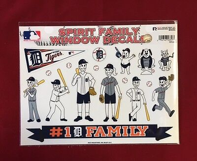 Detroit Tigers Spirit Family Decals NEW car/truck window - Set of 17  Detroit Tigers Family Decal