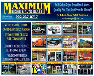 MAXIMUM SIGNS & VEHICLE LETTERING   20% OFF IN JULY