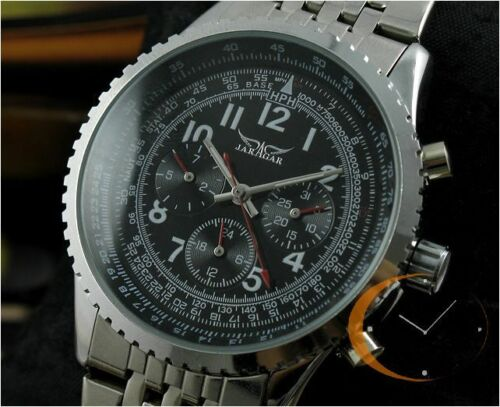 Luxury Mens AUTO Automatic Mechanical Multi Function Date Week Wrist Watch New