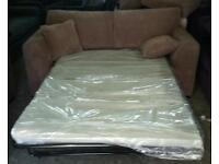 New jumbo cord sofa bed in light brown only £200