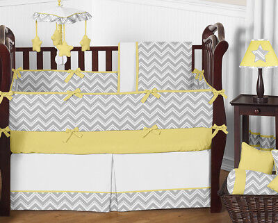 Sweet Jojo Designs Gray and Yellow Chevron Zig Zag Unisex Ba