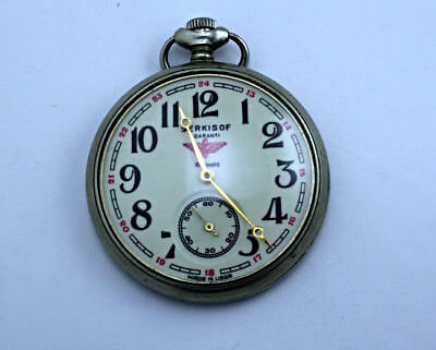 MOLNIJA SERKISOF VINTAGE SOVIET MECHANICAL POCKET WATCH EXTREMELY RARE USSR