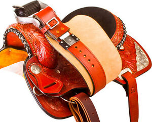 "15""16"" Western Horse Saddle + Tack Silver Barrel Pleasure Trail London Ontario image 9"