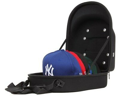 New Era 6 Cap Carrier Hat Storage System Transport Protect Carry Case Bag Black
