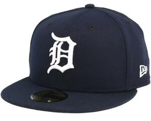 Detroit Tigers New Era Fitted Hat Size 7 1/4 New