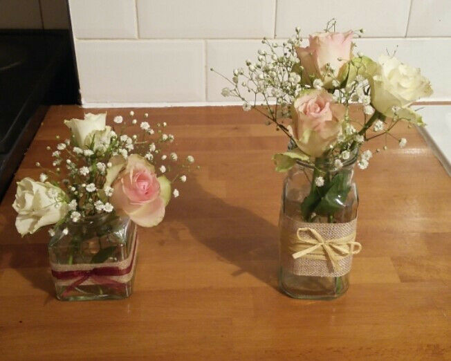 Mason Jars perfect for a Wedding £0.75 per jar. Mixture of shapes and sizes