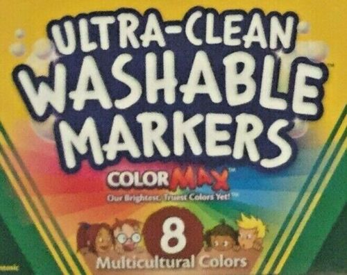 Crayola Washable Markers Multicultural Colors Skin Tone 8-pack NEW Lot of 6 pks