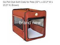 Dog soft crate kennel .Brand new .portable