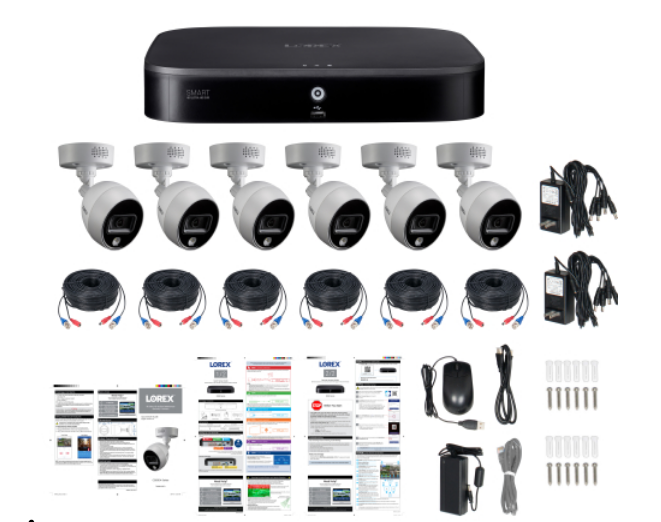 Lorex 4K Ultra HD Security System with 6- 4K  Cameras