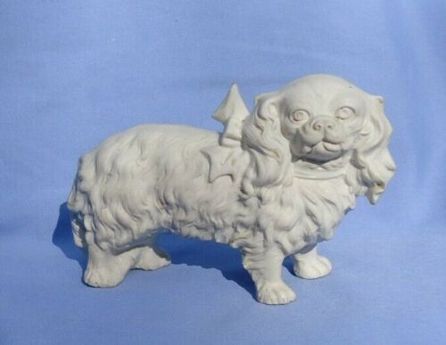 """CAVALIER KING CHARLES SPANIEL GERMANY 7"""" VICTORIAN BISQUE DOG"""