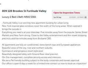 NRAS Fortitude Valley - 2 bedroom + car space + pool + gym + AC Fortitude Valley Brisbane North East Preview