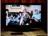 """32"""" HD ready LCD tv with Freeview, DVD player and USB media player."""