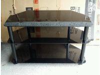 BLACK GLASS TV STAND 80cm