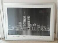 Silver framed NYC print