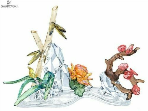 SWAROVSKI FOUR NOBLE PLANTS MIB #5283057
