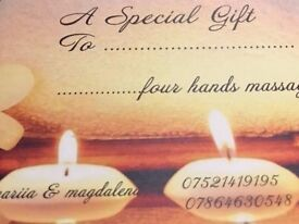 4 Hands Therapeutic Holistic Massage in Eastbourne is the best Gift for your girlfriend...