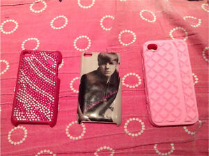 2 iPod 4 cases and 1 iphone5 case