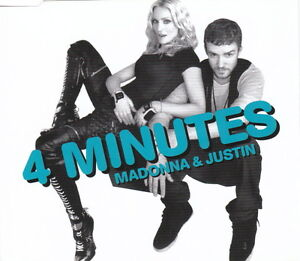 Madonna / Justin Timberlake - 4 Minutes - New 3 Track UK CD Single x