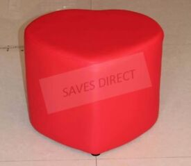 STYLISH HEART SHAPE HOME PU FAUX LEATHER REST FOOTSTOOL STOOL CHAIR..........New