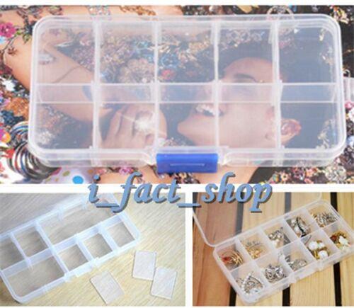 2X Detachable Plastic Storage Box Case 10 Slots Jewelry Pill Box Organizer IFA