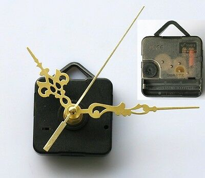 Quartz Clock Movement Mechanism Gold Hands DIY Replace Repair Parts Kit US POST