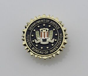 fbi federal bureau of investigation dept of justice logo seal suit lapel pin. Black Bedroom Furniture Sets. Home Design Ideas