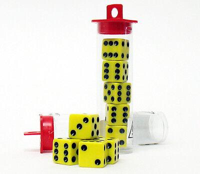 - 10 Bunco Dice Game - Yellow w/ Black (Party Set Family Night)