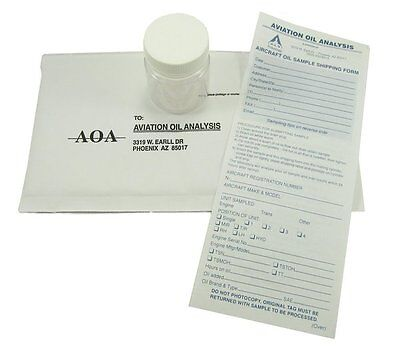 A O A  Aviation Reciprocating Engine Oil Analysis Kit   Lycoming   Continental