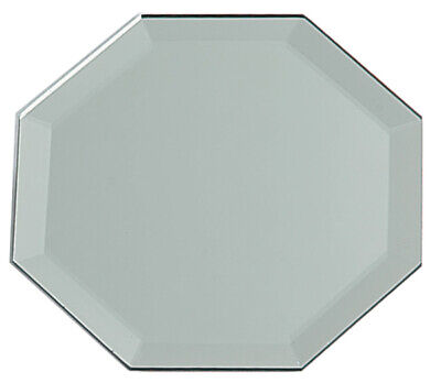Darice Octagon Glass Mirror Placemat With Bevel Edge 12 inch