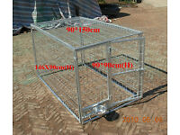 galvanised metal cage for gas storage or dog cage